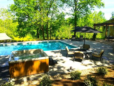 Photo for Lovely Home with 6-Person Hot Tub and Heated Pool