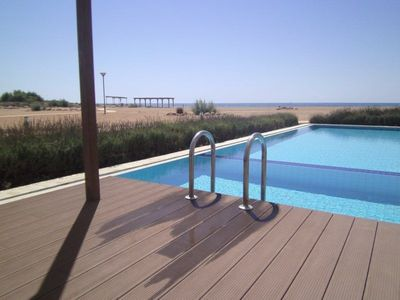 Photo for 3 Double Bedroom, 2 Bathroom Beach Front Apartment (with private pool)