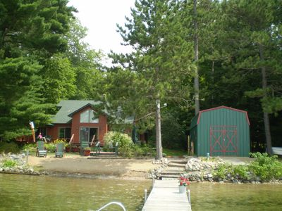 Photo for Private, lakefront, family friendly sandy lake access