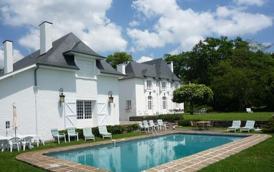 The converted Winery, Manor House and pool.