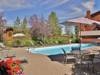 Photo for 3 Master Suites, Large Open Living Area, Private Hot Tub, Walk or Shuttle to Slopes