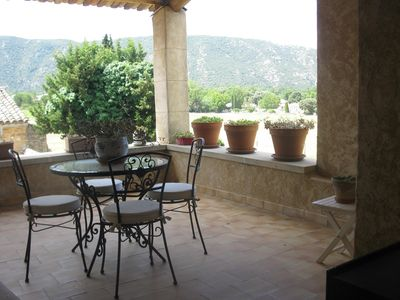 Photo for Authentic 17th century Mas with magnificent view of the Petit Luberon