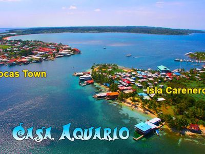 Photo for Queen Suite Over the crystal  Sea of Bocas del Toro with beautiful beach.