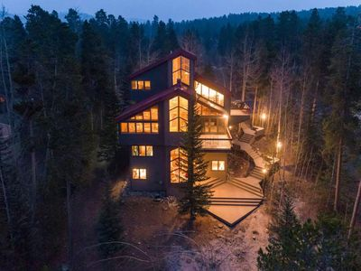 Photo for Stately modern home with wraparound deck, hot tub, minutes from slopes: Bear Peak Lodge