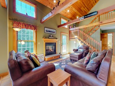 Photo for New Listing! Dog-friendly home w/ outdoor fire &  private hot tub - near skiing!