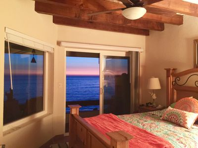 Photo for Relax Over Drinks at Pacific Oceanfront Condo-Watch Sunsets, Dolphins & Whales