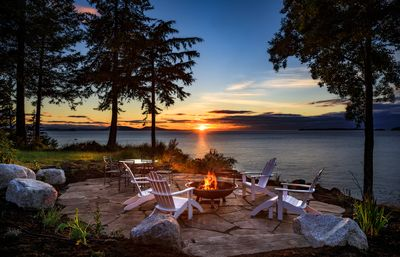 Photo for Waterfront Custom Home, 180 Degree Summer Sunset & Sunrise,  Sleeps 14