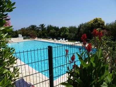 Large 25m pool and lounging area is part of the residence