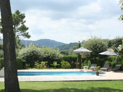 Photo for Very pretty villa full of charm in peace, 3/4 rooms, garden, swimming pool.