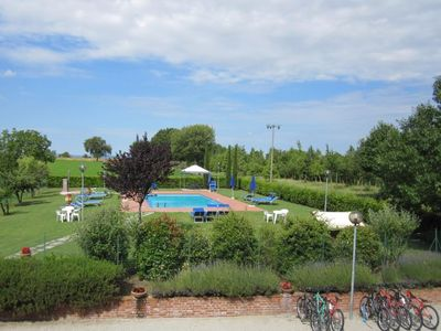 Photo for 2 bedroom Apartment, sleeps 6 in Borgonuovo with Pool and WiFi