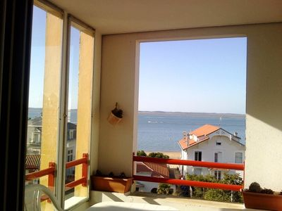 Photo for T2 with terrace, beautiful sea view