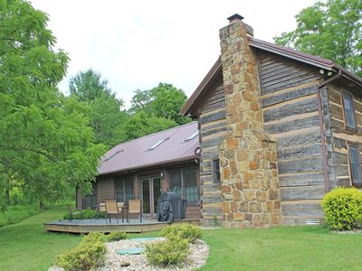Photo for The Meadow Valley Cabin is an 1860's hand hewn log cabin completely renovated