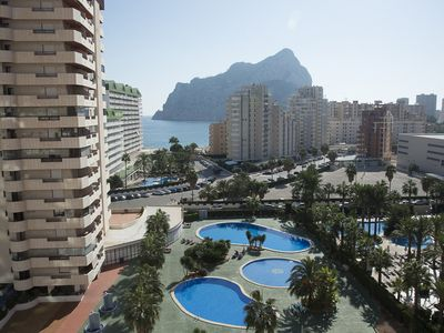 Photo for Apartment in Edf. Coral Beach ideal for families with children on the beach Calpe