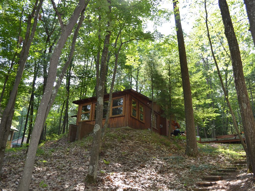 Traverse City Arbutus Lake Cabin In The Woods Pet Ok