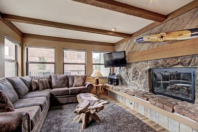 This two-bedroom unit has everything you need for the perfect mountain escape.