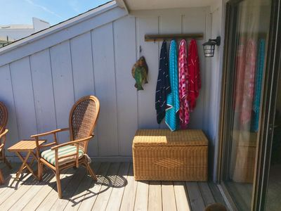 Photo for Top Story Double Balcony, just steps from the beach