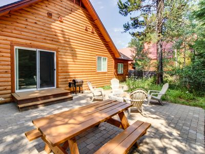 Photo for Charming log home w/ outdoor firepit, hot tub and close to lake