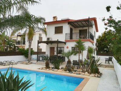 Photo for Villa with Private Pool, free WIFI, 200m from the sea and short walk to beach