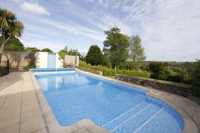 The private pool and south facing country views.