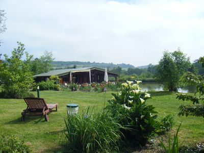 Photo for Chalet on property of 3ha surrounded 1.5 acres of enclosed ponds full nature. 4 \ 6 prs