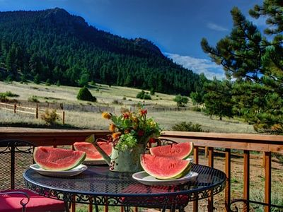 Photo for Huge Views, 15 Acre Private Estate, Wildlife, Multi-Family Cottage Near RMNP