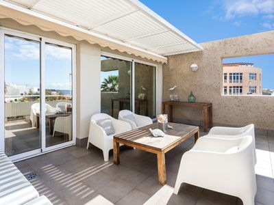 Photo for 3 Bedroom, stunning views to the sea, family friendly, free wifi, big terrace