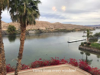 Photo for Riverfront Townhome with Fabulous River Views from every window!