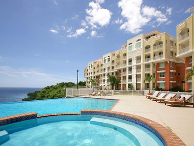 Photo for Ocean view sunsets await you at our luxury condo/crash boat beach