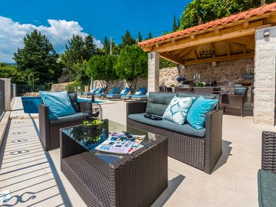 Photo for Charming Villa Maria with pool surrounded with a Mediterranean plants