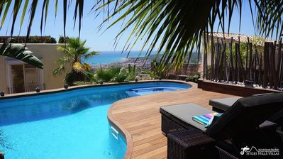 Photo for Spectacular Villa Ibizenca with sea views and private pool.  All en-suite
