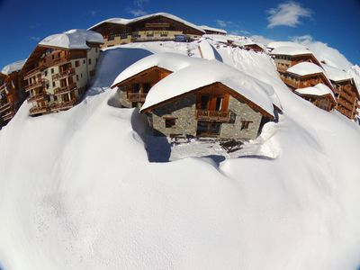 Photo for INDIVIDUAL CHALET, very near ski lifts, 17 sleeps, terrace