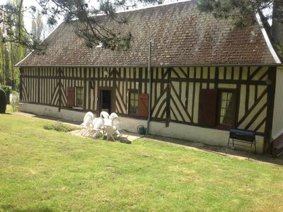 Photo for Pretty half- colombage cottage traditional of the Normandy area near Honfleur