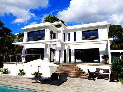 Photo for Contemporary villa - gated domain - golf Cannes-Mougins