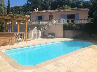 Photo for Villa with private pool and grounds on edge of beautiful Provencal village