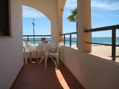 Photo for Peñíscola First Line Beach Rental WiFi Air Conditioning Parking 1st floor