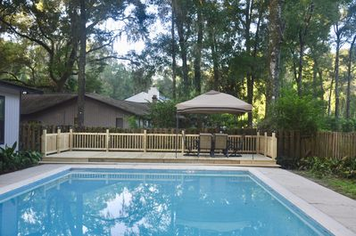 Perfect for entertaining.  Oversized pool and deck