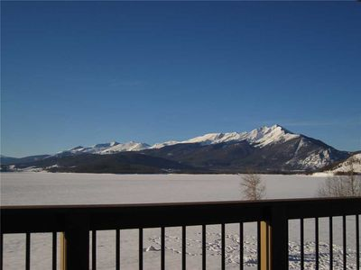 Photo for Condo on Lake Dillon - Awesome Mountain and Lake Views, Elevator, Gourmet Kitchen, Covered Deck
