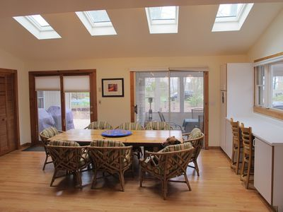 One half block to the beach, 60 miles from Chicago, bikes and pet friendly!