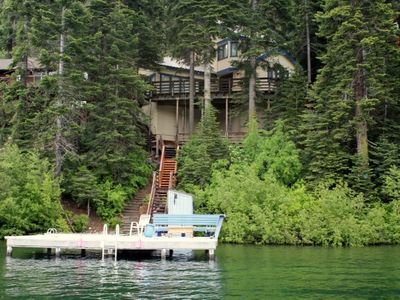 Photo for 4 bedroom, 3 bath, sleeps 8, Donner LAKEFRONT with private dock DLR#003