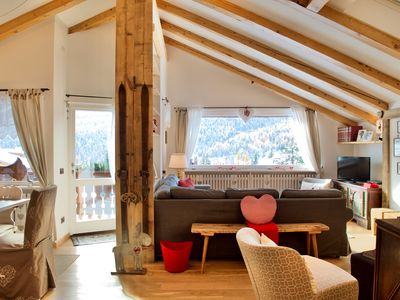 Photo for Beautiful design 3 bedroom apartment in Cortina