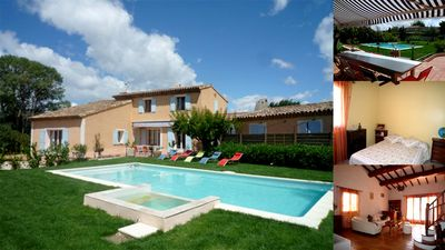 Photo for Wonderful 200m2 villa with swimming pool and jacuzzi, 10 minutes from the beach!