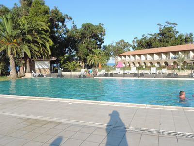 Photo for BEAUTIFUL 2 ROOMS AIR CONDITIONED IN RESIDENCE-SWIMMING POOL HEATED-BEACH A 70M DIRECT ACCESS