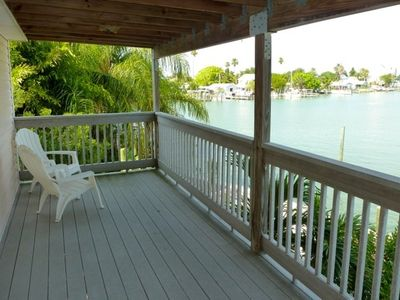 Upstairs balcony overlooking the intracoastal