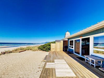 Deck - Incredible views await from your private beachfront deck.