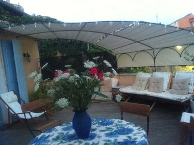 Photo for Magnificent view on the Cevennes Uzes and large terrace overlooking stay