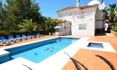 Photo for 6 bedroom Villa, sleeps 14 with Pool, Air Con, FREE WiFi and Walk to Shops