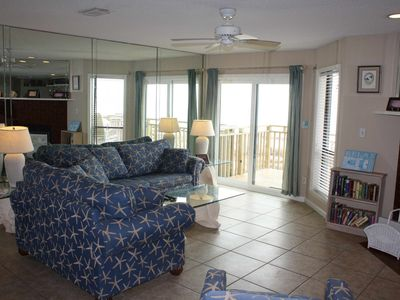 "Photo for Ready now - No storm issues! FREE BEACH GEAR! Beachfront East End, Pets OK, Community Pool, 2BR/2BA ""Ocean Mile I-3"""