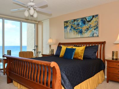 Glamorous master suite! Beautifully decorated! What a spectacular view!