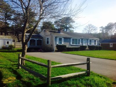 Photo for Great cape house with out door shower and walk to best beach in South Yarmouth!