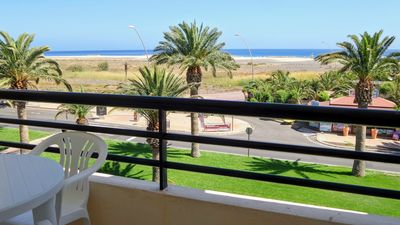 Photo for Beachfront apartment sea view terrace 2 bedrooms Wi-Fi beachfront